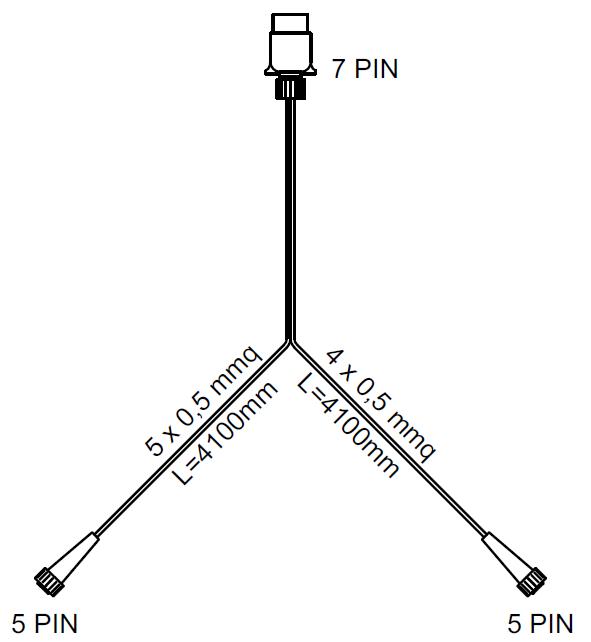 Baglygtesæt: baglygter DPT 35 med ledningsnet 4 m 7-polet