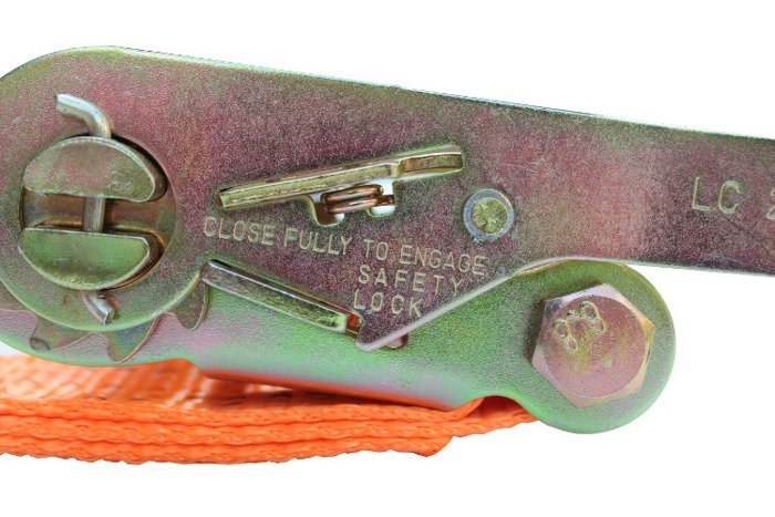Sæt: 10x surringsbånd med skralde 4M/50mm/5T