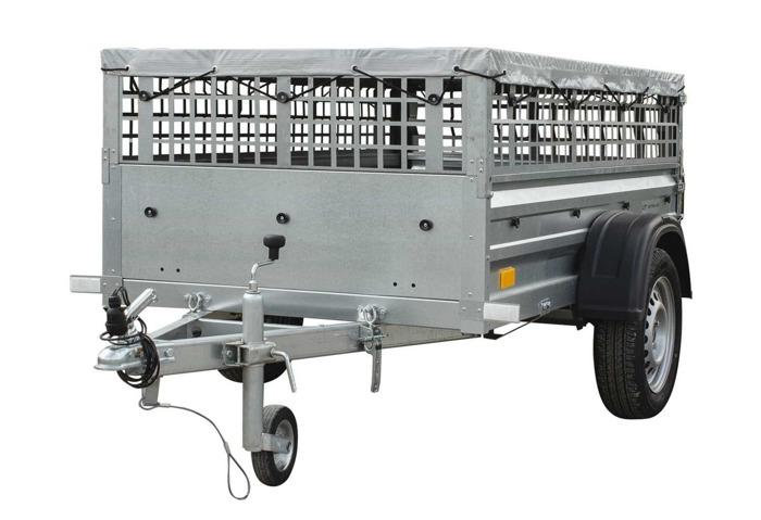 Trailer inklusiv gittersider, flad presenning og næsehjul. Totalvægt 750 kg. Indvendigt ladmål 200x106 cm Garden Trailer 200