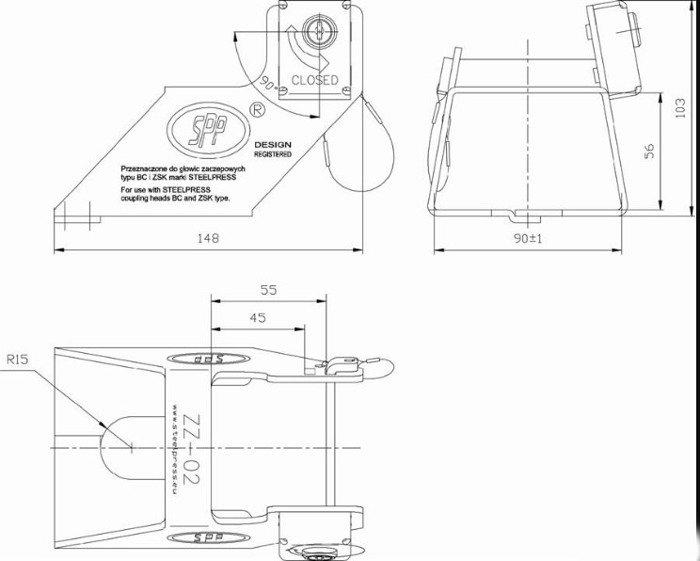 Trailerlås til kuglekobling ZZ-02 Steelpress
